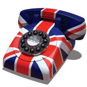 Retro Classic Union Jack Telephone