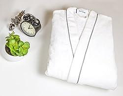Spaces Enrobe Cotton Medium Bathrobe - White