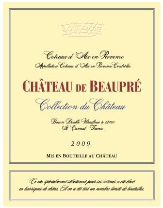 """2009 Chateau De Beaupre """"Collections"""" Provence Cabernet And Syrah"""