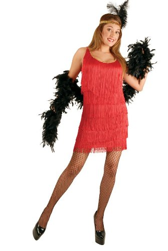 Charades Costumes 31790 Fashion Flapper Red Plus Adult Costume Size 3X
