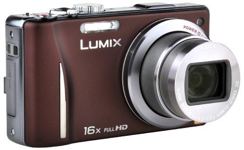 Panasonic Lumix DMC-TZ20EG-T Digitalkamera (14 Megapixel, 16-fach opt. Zoom, 7,5 cm (3 Zoll) Display, bildstabilisiert) braun