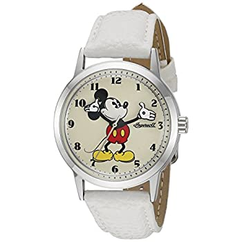 Ingersoll Mickey Mouse Men's IND 26161 Ingersoll Disney Mickey Mouse Moving Arms Analog Display Quartz White Watch