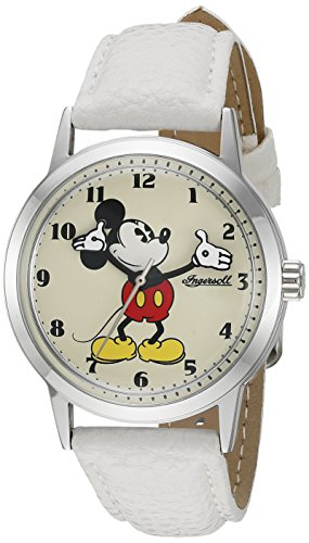 Ingersoll Mickey Mouse Men's IND 26161 Ingersoll Disney Mickey Mouse Moving Arms Analog Display Quartz White Watch 0