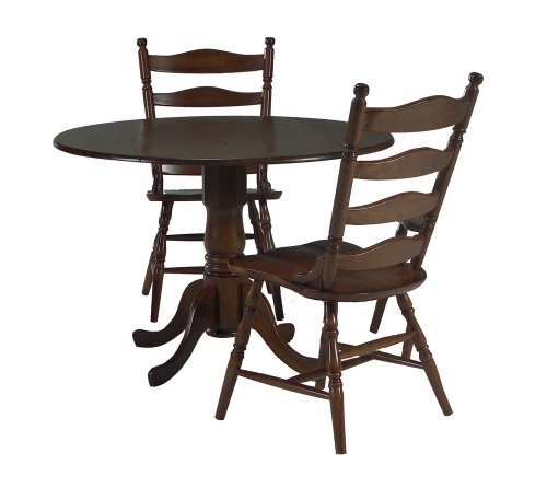 Buy Low Price International Concepts 3-Piece Set – 42″ Dual Drop Leaf Table with 2 Country Cottage Chairs in Cottage Oak – K48-42DP-C37-2 (K48-42DP-C37-2)