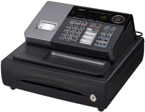 CASIO カシオ計算機 レジスター 8部門 小型ドロア 1シート抗菌加工処理キーボード サーマルプリンタ SE-S10BK ブラック