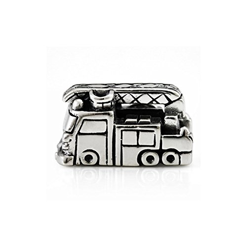 Ohm Beads Sterling Silver Fire Truck Bead Charm