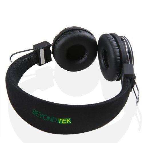 Beyondtek Hi-Fi Stereo Handsfree Headset 4X Noise Canceling Wireless Bluetooth Headphone Mp3 Bluetooth Headset Tf Card For Motorola, Samsung Galaxy S4, Lg, Apple Iphone 5, Ipod, Htc & More A2Dp Enabled Smartphones