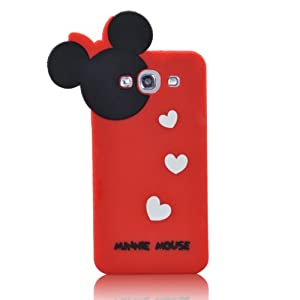 Disney Minnie Mouse Hide and Seek Silicone Case for Samsung Galaxy S3 i9300-RED