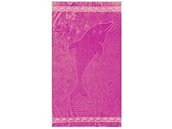 100/% coton Poncho pour enfants Masha et lours /à capuche rose 50 x 115 cm Oeko Tex Standard 100
