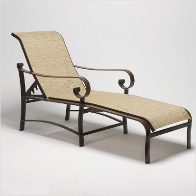 Belden Sling Adjustable Chaise Lounge Finish: Black, Sling: Cape Code Stripe