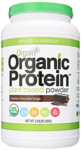 Orgain Organic Plant Based Protein Powder, Creamy Chocolate Fudge, 2.03 Pound, 1 Count