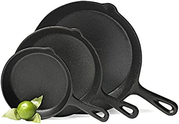 Basic Essentials Cast Iron Fry Pan Set