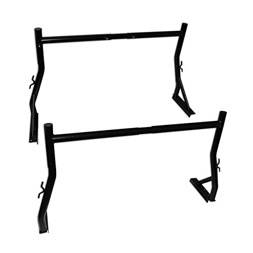 AA-Racks Model X35 800LB Capacity Extendable Steel Pick-Up Truck Ladder Rack Two-bar set (Truck Racks For Ladders compare prices)