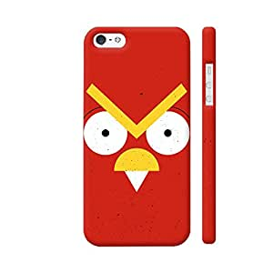 Colorpur Angry Bird On Red Designer Mobile Phone Case Back Cover For Apple iPhone 5 / 5s | Artist: Designer Chennai