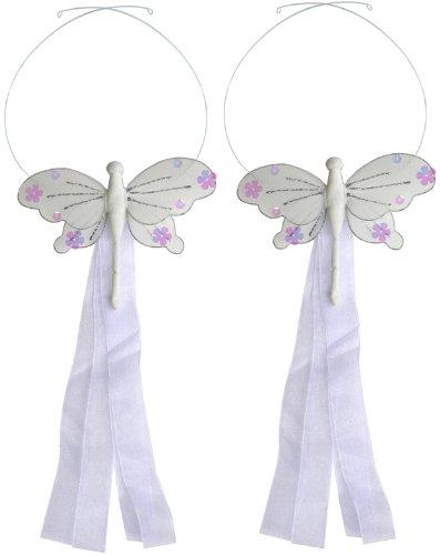 Dragonfly Tiebacks White Jewel Nylon Dragonflies Tieback Pair / Set Decorations. Window Curtains Holder Drapery Holders Tie Backs To Decorate A Baby Nursery Bedroom, Girls Room Wall Decor, Wedding Birthday Party, Bridal Baby Shower, Bathroom, Curtain Deco front-1033223
