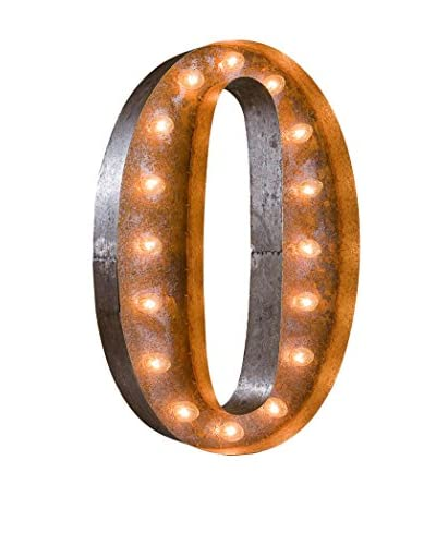 """24"""" Vintage-Inspired Letter O Marquee Light"""