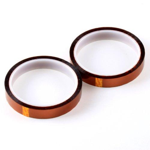 2 Pcs 15Mm X 100Ft High Temperature Heat Resistant Kapton Tape Polyimide