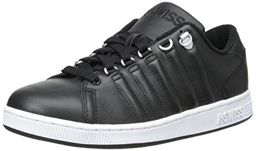K-Swiss Men's Lozan III 90's Court Style Shoe, Black/White, 9 M US