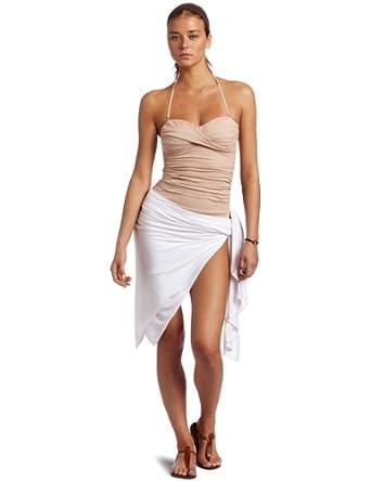 Majestic Swim Women's Wrap, White, One Size
