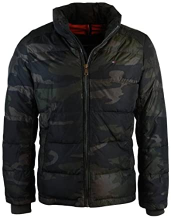 Buy Tommy Hilfiger Mens Camo Performance Down Puffer Coat by Tommy Hilfiger