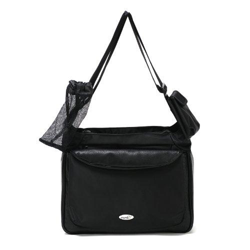 Momo Baby Satchel Diaper Bag, Black