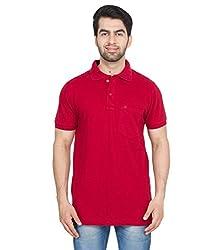 Gio Men's Cotton T-Shirt (AMZ_AMP_191_Red_Medium)