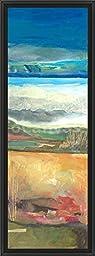 14in x 38in Nantucket Vistas I by Marlene Lenker - Black Floater Framed Canvas w/ BRUSHSTROKES
