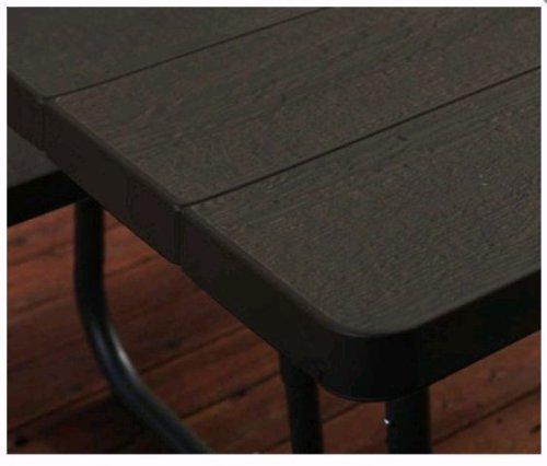 Lifetime 60112 Commercial Grade 6u0027 Picnic Table ~ Faux Wood Color Seats 8