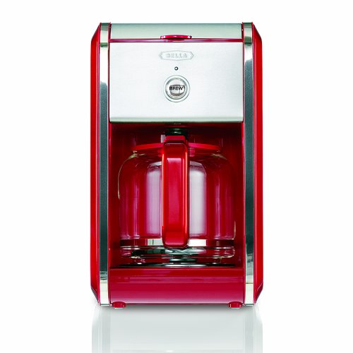 BELLA 13700 Dots Collection 12-Cup Coffee Maker, Red New eBay