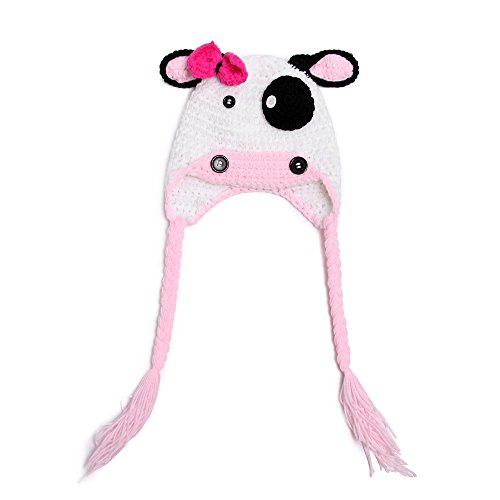 Elee Baby Toddler Moo Moo Handmade Crochet Cow Hat Photography Props Hat Beanie