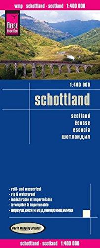 Escocia, mapa de carreteras impermeable. Escala 1:400.000. Reise Know-How.