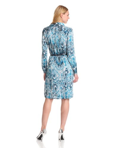Jones New York Women's Long Sleeve Shirt Dress