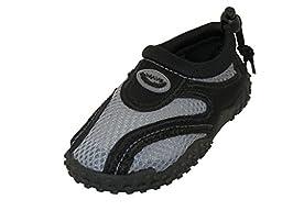 Children Kids Wave Water Aqua shoes Beach Pool Aqua Socks Grey 8