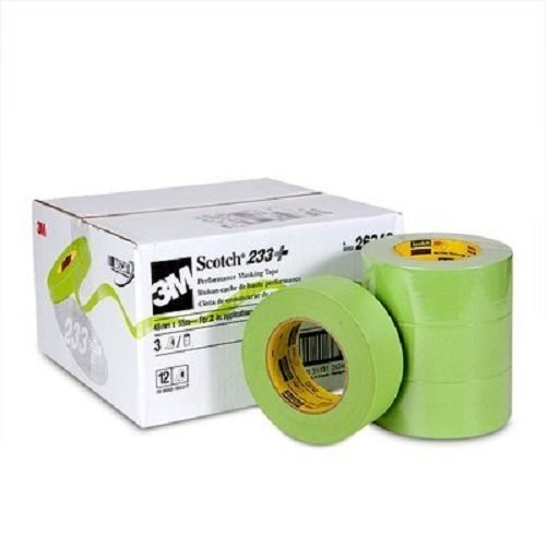 3M Scotch 233+ Performance Paper Masking Tape, 60 yds Length x 2