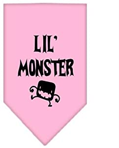 Lil Monster Screen Print Bandana Light Pink Large (24 Pack) [Misc.]