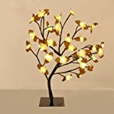 Decorative Floral Bonsai Style Tree Light with 32 Warm White LED's - 45cm