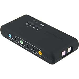 Sabrent USB-SND8 8-Channel 3D USB 2.0 External 7.1 Surround Sound Box with Digital Output