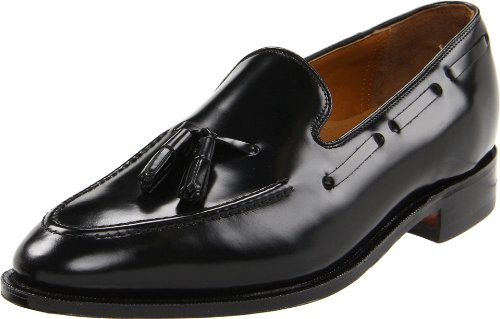 Johnston & Murphy Men's Melton Tassel Slip-On,Black Calfskin,10.5 3E US