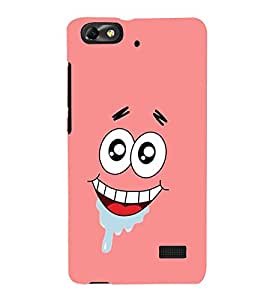 Cool Smiling Cartoon Face 3D Hard Polycarbonate Designer Back Case Cover for Huawei Honor 4C :: Huawei G Play Mini