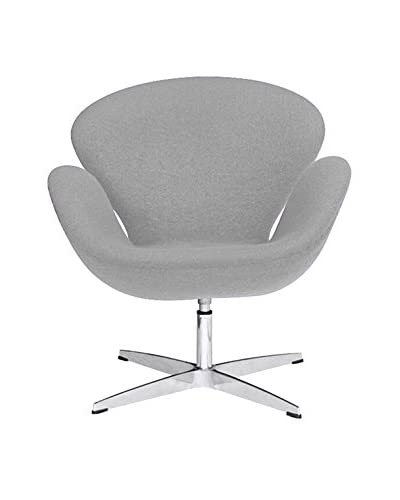 Manhattan Living Swan Chair Fabric, Light Gray