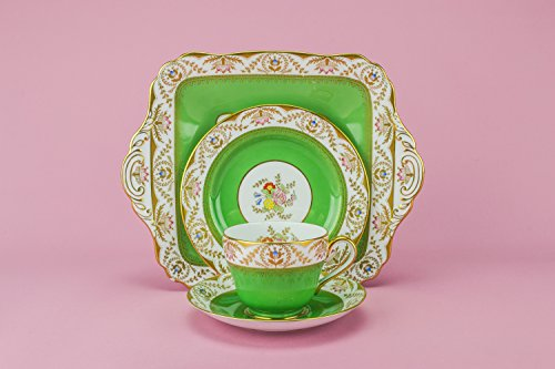 5-persons-neo-classical-bone-china-tea-set-spode-regent-plate-medium-green-cup-saucer-serving-englis