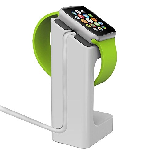 U-Mest(TM) Desktop Dock Charger Mount Station 45° Angle Stand Holder for New Apple Watch iWatch 38mm 42mm (White)