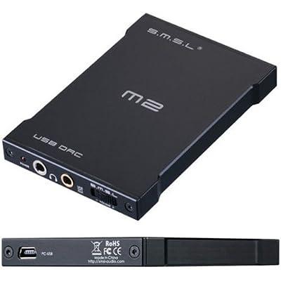 SMSL M2 Portable headphone amplifier external DAC decoder sound card black