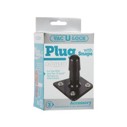 Bundle Package Of Vac-U-Lock Platinum Edition Black Plug And Jo H20 4.5Oz.