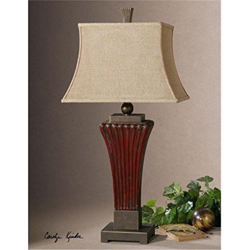 Uttermost 26465 Rosso Ribbed Ceramic Lamp /RM#G4H4E54 E4R46T32593456