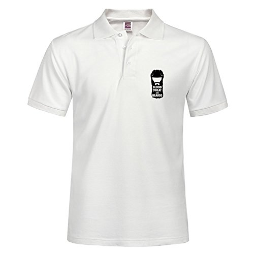 Worldwide Blood Sweat Beards Polo Tees Soft Material Made Slim Fit Polo Shirt
