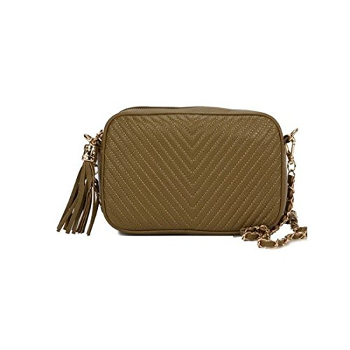 dearwyw-women-genuine-cow-leather-mini-oblique-quilted-square-cross-body-shoulder-bag-khaki