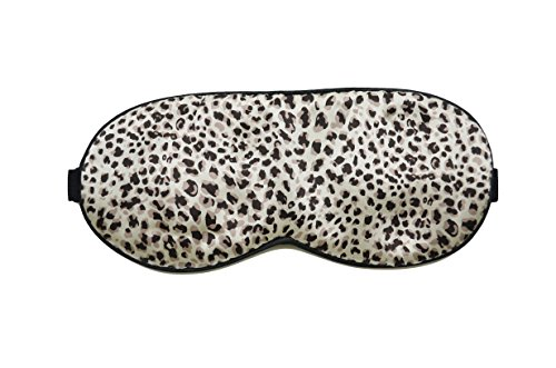 Mssilk Leopard Print Breathable Pure Silk Sleep Eye Mask With Brocade Pouch And Earplugs Gift Set front-663626