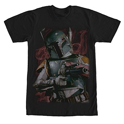 Star Wars Boba Fett Bounty Hunter Smoke Mens Graphic T Shirt - Fifth Sun