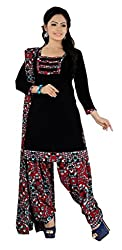 Fashions World Fancy Black Crepe Dress Material